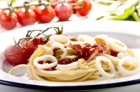 Спагетти с кальмрами